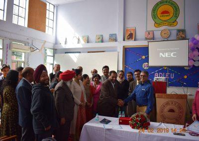 Resource person with post visharada students